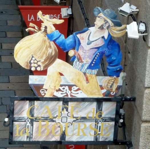 Café de la bourse (recto) - Saint Malo