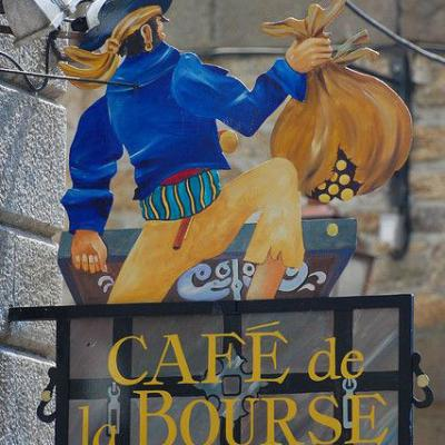 Café de la bourse (verso) - Saint Malo