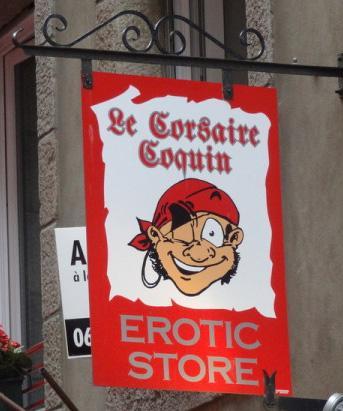 Le corsaire coquin (boutique érotique) - Saint Malo